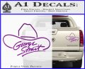 George Strait Decal Sticker Cowboy Hat Purple Vinyl 120x97