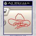 George Strait Decal Sticker Cowboy Hat Red Vinyl 120x120
