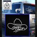 George Strait Decal Sticker Cowboy Hat White Emblem 120x120