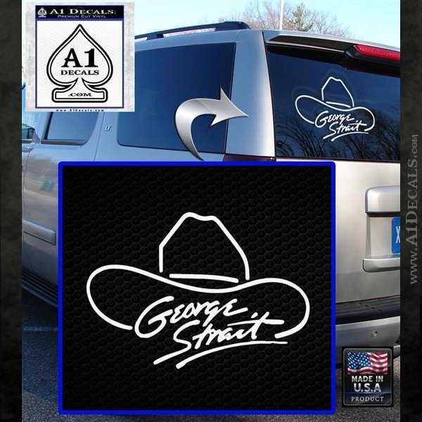 George Strait Decal Sticker Cowboy Hat 187 A1 Decals