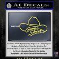 George Strait Decal Sticker Cowboy Hat Yelllow Vinyl 120x120