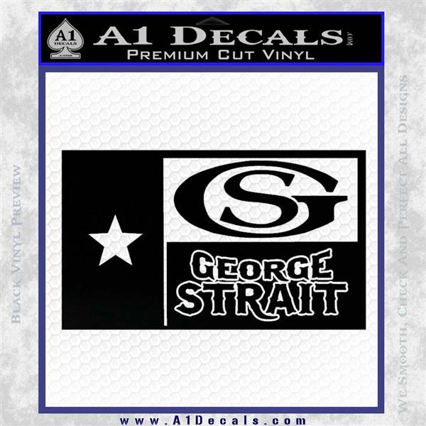 George Strait Decal Sticker Texas Flag Black Logo Emblem
