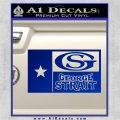 George Strait Decal Sticker Texas Flag Blue Vinyl 120x120