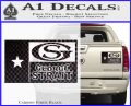 George Strait Decal Sticker Texas Flag Carbon Fiber Black 120x97