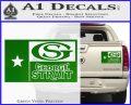 George Strait Decal Sticker Texas Flag Green Vinyl 120x97