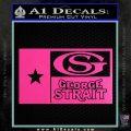 George Strait Decal Sticker Texas Flag Hot Pink Vinyl 120x120