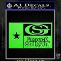 George Strait Decal Sticker Texas Flag Lime Green Vinyl 120x120