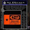 George Strait Decal Sticker Texas Flag Orange Vinyl Emblem 120x120