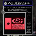 George Strait Decal Sticker Texas Flag Pink Vinyl Emblem 120x120