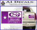 George Strait Decal Sticker Texas Flag Purple Vinyl 120x97