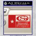 George Strait Decal Sticker Texas Flag Red Vinyl 120x120