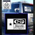 George Strait Decal Sticker Texas Flag White Emblem 120x120