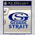 George Strait GS Rides Away Decal Sticker Blue Vinyl 120x120