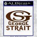 George Strait GS Rides Away Decal Sticker Brown Vinyl 120x120