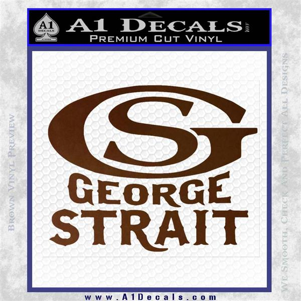 George Strait Gs Rides Away Decal Sticker 187 A1 Decals