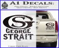 George Strait GS Rides Away Decal Sticker Carbon Fiber Black 120x97