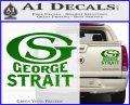 George Strait GS Rides Away Decal Sticker Green Vinyl 120x97