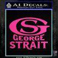 George Strait GS Rides Away Decal Sticker Hot Pink Vinyl 120x120