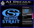 George Strait GS Rides Away Decal Sticker Light Blue Vinyl 120x97
