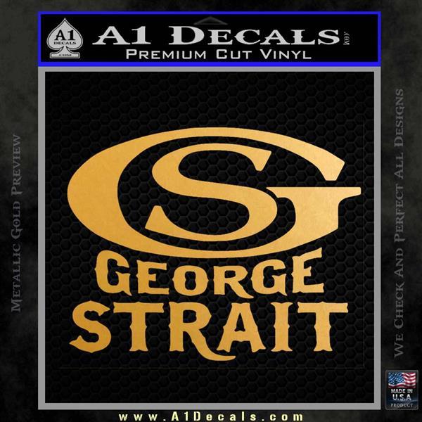 George Strait GS Rides Away Decal Sticker Metallic Gold Vinyl Vinyl