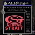 George Strait GS Rides Away Decal Sticker Pink Vinyl Emblem 120x120