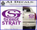 George Strait GS Rides Away Decal Sticker Purple Vinyl 120x97