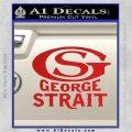George Strait GS Rides Away Decal Sticker Red Vinyl 120x120