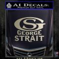 George Strait GS Rides Away Decal Sticker Silver Vinyl 120x120