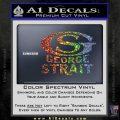 George Strait GS Rides Away Decal Sticker Sparkle Glitter Vinyl 120x120