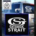George Strait GS Rides Away Decal Sticker White Emblem 120x120