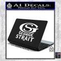 George Strait GS Rides Away Decal Sticker White Vinyl Laptop 120x120