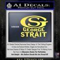 George Strait GS Rides Away Decal Sticker Yelllow Vinyl 120x120