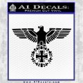 German Army WW2 Iron Cross Eagle Decal Sticker Black Logo Emblem 120x120