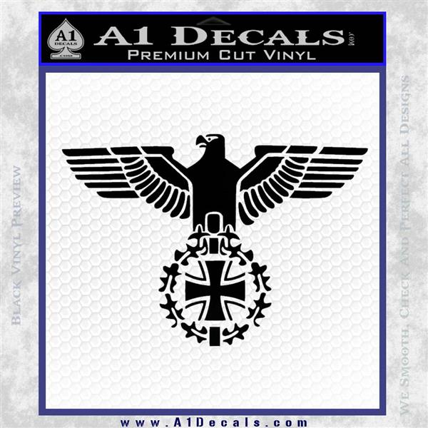 German army ww2 iron cross eagle decal sticker black logo emblem