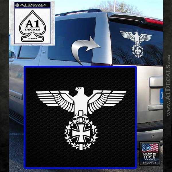 German Army Ww2 Iron Cross Eagle Decal Sticker A1 Decals