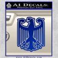 German Eagle Crest Deutschland Germany Flag Decal Sticker Blue Vinyl 120x120