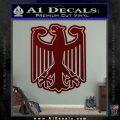 German Eagle Crest Deutschland Germany Flag Decal Sticker Dark Red Vinyl 120x120