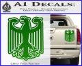 German Eagle Crest Deutschland Germany Flag Decal Sticker Green Vinyl 120x97