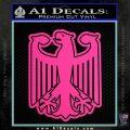 German Eagle Crest Deutschland Germany Flag Decal Sticker Hot Pink Vinyl 120x120