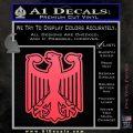 German Eagle Crest Deutschland Germany Flag Decal Sticker Pink Vinyl Emblem 120x120