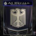 German Eagle Crest Deutschland Germany Flag Decal Sticker Silver Vinyl 120x120