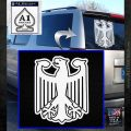 German Eagle Crest Deutschland Germany Flag Decal Sticker White Emblem 120x120