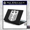 German Eagle Crest Deutschland Germany Flag Decal Sticker White Vinyl Laptop 120x120