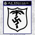 German WW2 Afrika Korps Decal Sticker Black Logo Emblem 120x120