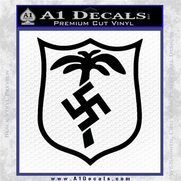 German WW2 Afrika Korps Decal Sticker Black Logo Emblem