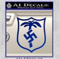 German WW2 Afrika Korps Decal Sticker Blue Vinyl 120x120
