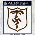 German WW2 Afrika Korps Decal Sticker Brown Vinyl 120x120