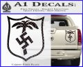 German WW2 Afrika Korps Decal Sticker Carbon Fiber Black 120x97