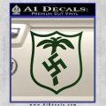German WW2 Afrika Korps Decal Sticker Dark Green Vinyl 120x120