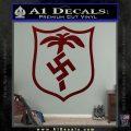 German WW2 Afrika Korps Decal Sticker Dark Red Vinyl 120x120